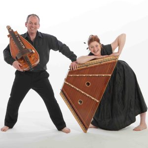 Hurdy-Gurdy Player Quentin Budworth & Hammered Dulcimer Player Amanda Lowe